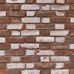 Ziegelstein Brick Orange Shabby