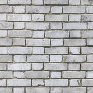 Ziegelstein Brick White Aged